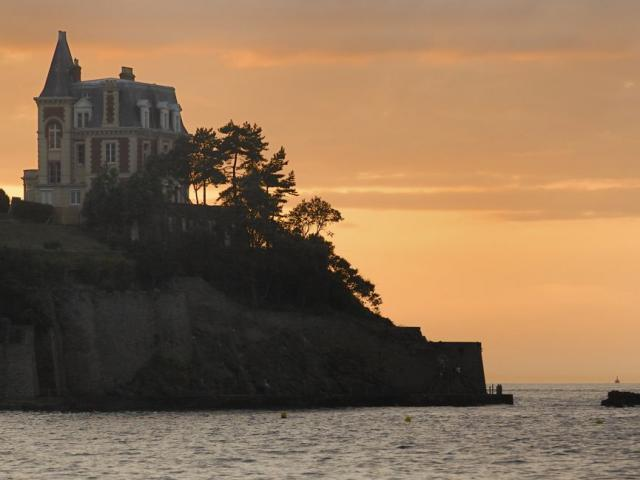 Sunset on the Roches Brunes, Dinard