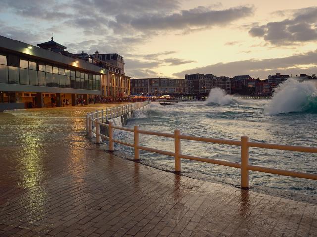 Grandes marées plage de l'écluse, Dinard