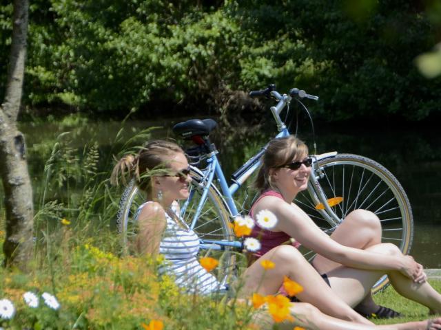 Balade à vélo sur le long des voies vertes, Guipel