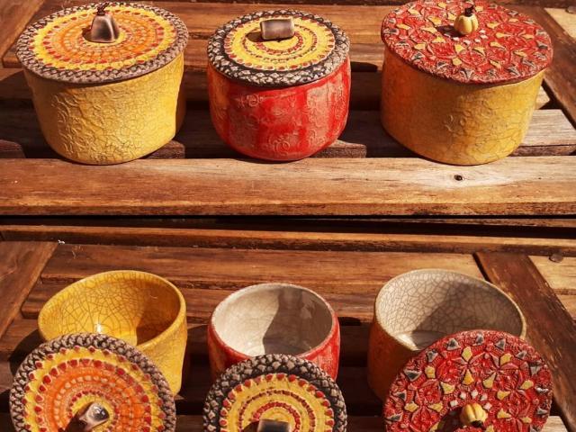 Boites en céramique