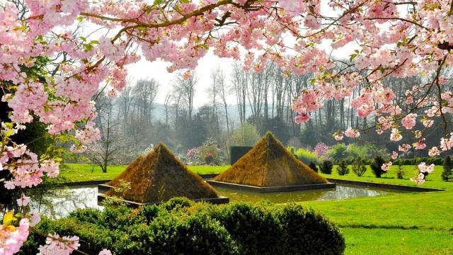 Pyramides végétales, Parc botanique de Haute Bretagne