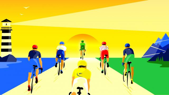 Visuel Générique Tour de France 2021