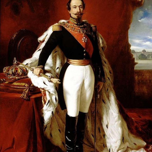 Tableau de l'empereur Napoléon III peint par Jean-Hippolyte Flandrin en 1861