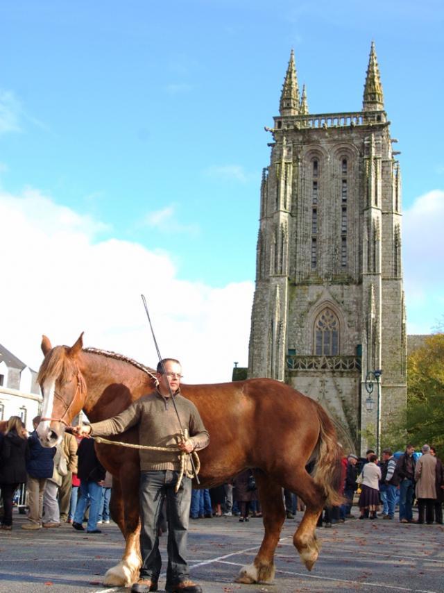 La Foire aux chevaux devant l'Eglise Saint-Trémeur