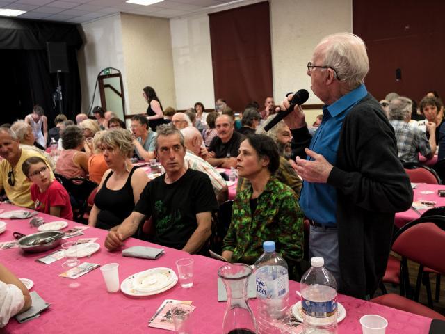 Banquet à la Fest Ar C'han à Poullaouen