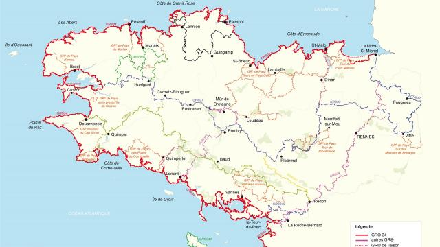 Carte Grs Bretagne