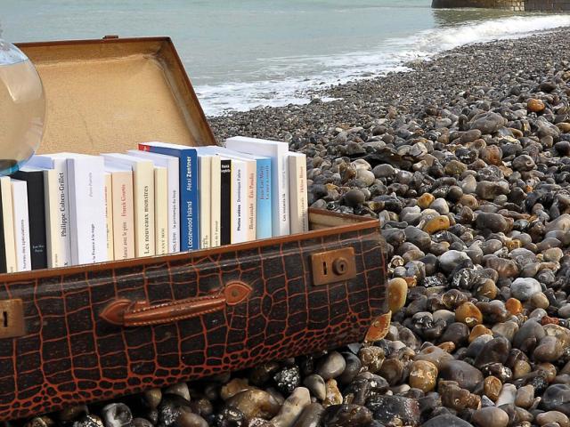 Le Tréport - lire à la plage