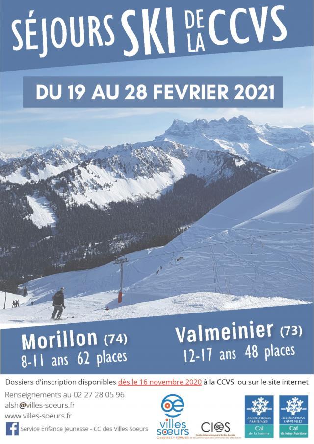 Affiche Séjour Ski 2021
