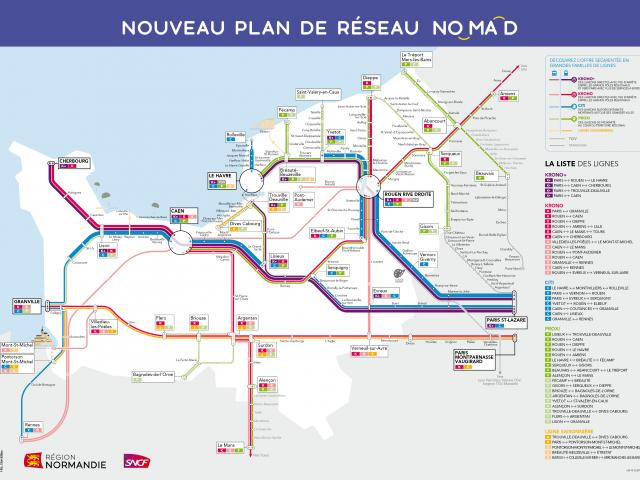 Carte Transport Normandie 22 01 2021