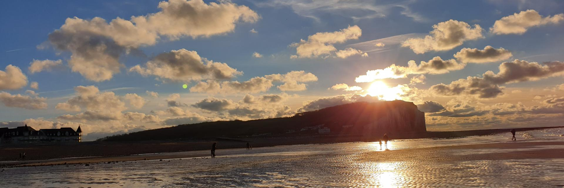 Criel plage à marée basse