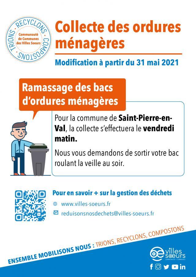 Collecte Des Bacs Roulants Saint Pierre En Val