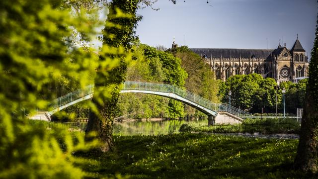 Passerelle Grand Jard Chalons Cathedrale Nature © Michel Bister