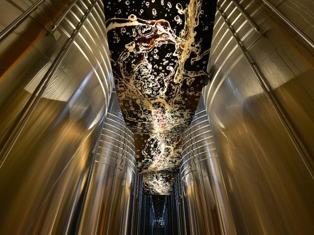 Cooperative Champagne Nicolas Feuillatte Cuverie Premiere Fermentation © Michel Jolyot