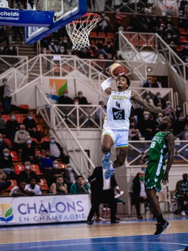 Champagne Basket 2020 Chalons Jalen Adams Dunk