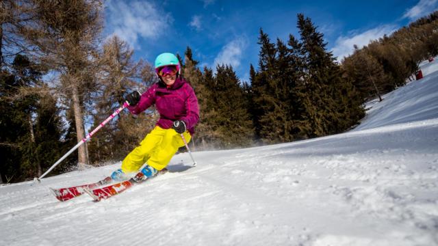 Skieuse à la station de Chaillol