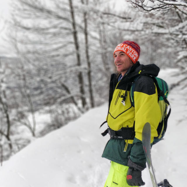 Ski Serre Eyraud chute de neige