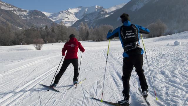 Ski fond Vallon de Rouanne à Ancelle