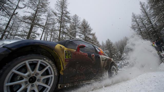 Rallye de Monte Carlo à Ancelle sous la neige
