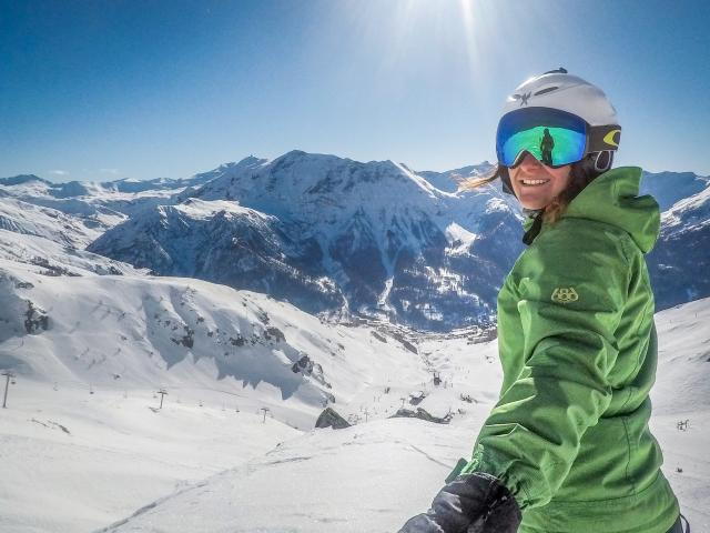 Selfie ski à la station Orcières Merlette