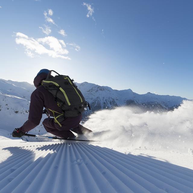 skieur à la station Orcières Merlette