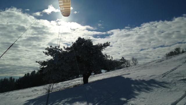 Snowkite à Manse