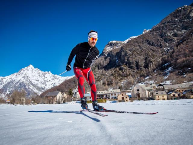 Skieur de fond à Champoléon