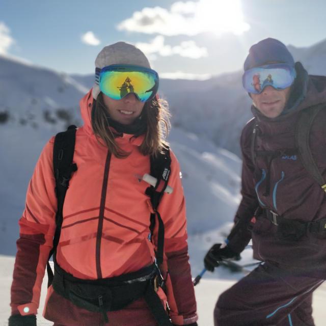 Skieurs à la station d'Orcières Merlette