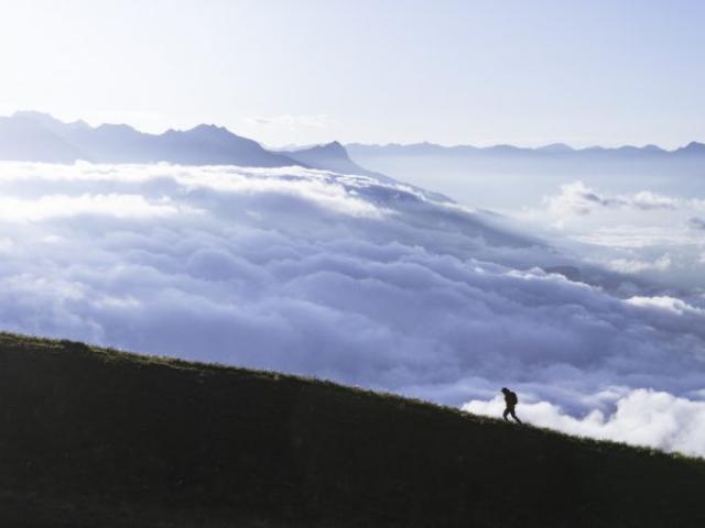 Randonnée en automne au Col de Gleize