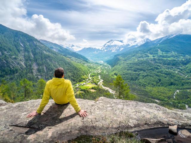 Vallée du Haut Champsaur vue depuis le Plateau de la Coche