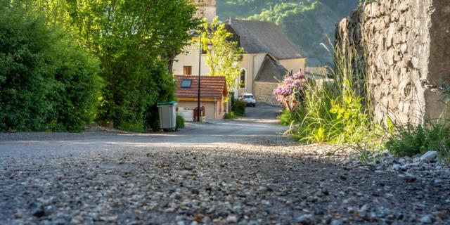 Vélo sur la route du du Champsaur