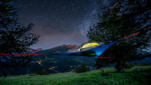 Nuit étoilée sur le plateau de la Coche