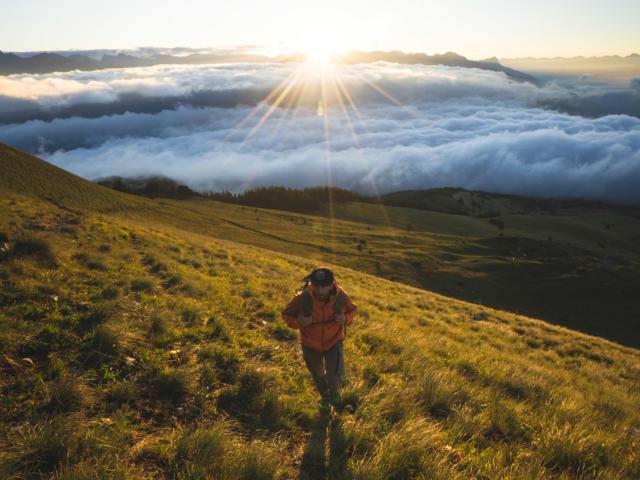 Montée au col de Gleize en randonnée