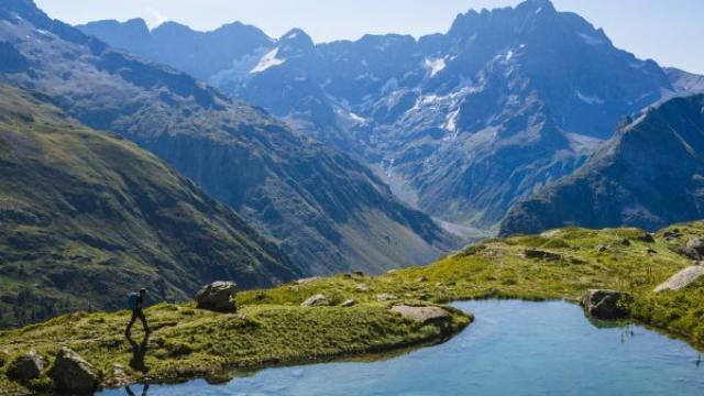 Lac bleu dans le Valgaudemar