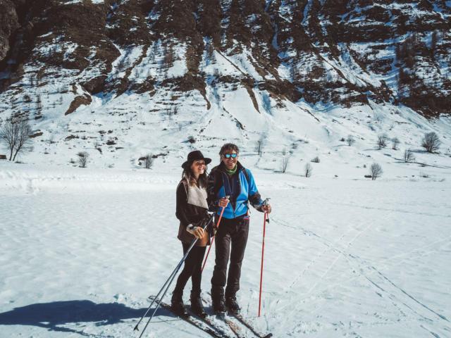 inititation au ski nordique sur le plateau de Charnière