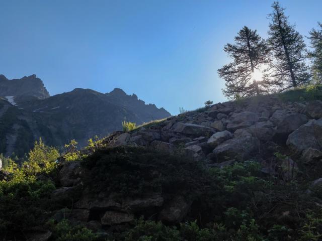 Sur la Montée au refuge des Souffles dans le Valgaudemar