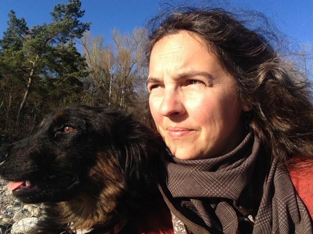 Selfie randonnée chien dans le Champsaur