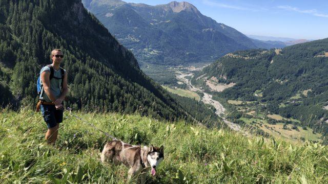 Randonnée aux Rochas avec son chien