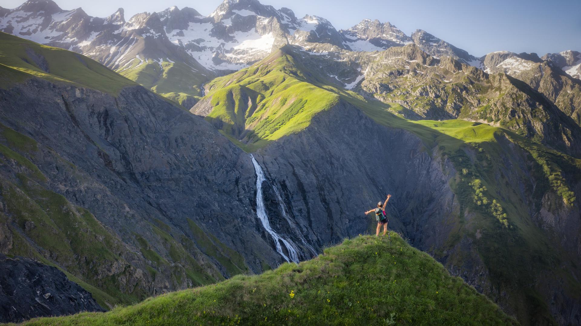 Randonnée avec vue sur les Choucières Vertes depuis le Valgaudemar