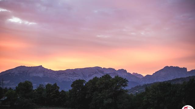 Couché de soleil sur la vallée du Champsaur