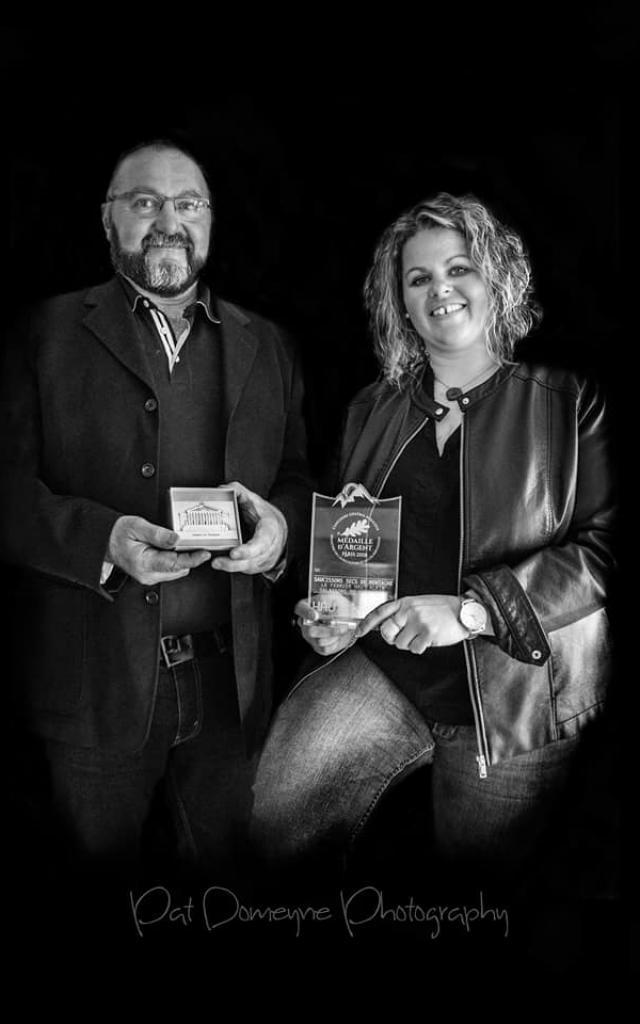 Delphine et Michel après leur récompense au SIA 2019