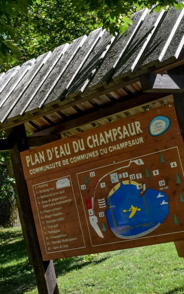 Arrivée au plan d'eau du Champsaur