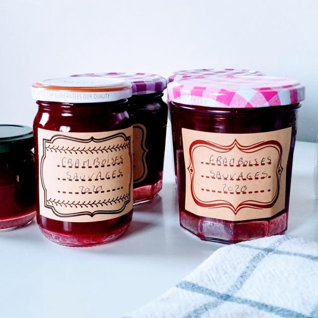 Pots de confiture framboises©Aude Carmellino