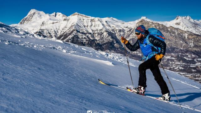 Ski de randonnée face au Vieux Chaillol