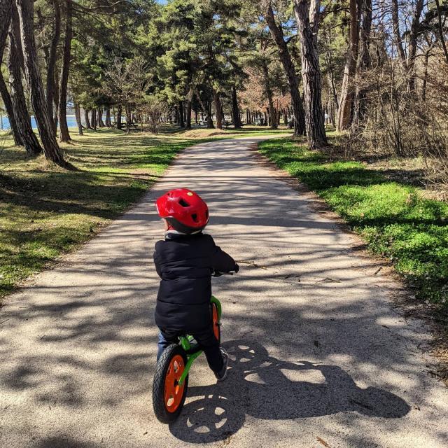 Balade à vélo au plan d'eau du Champsaur