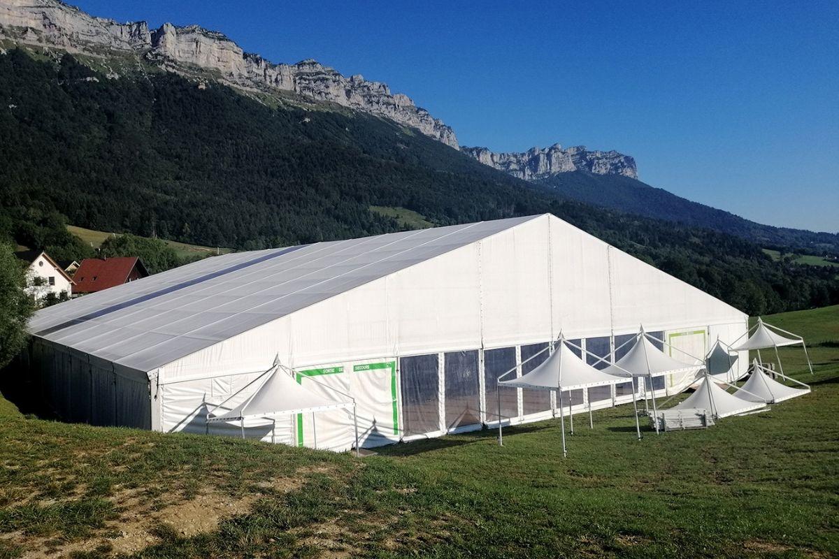 Installation terminee du pavillon barish pour Icare Expo