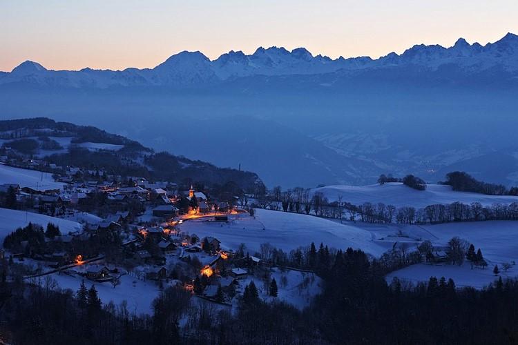 Villages des Petites Roches en hiver