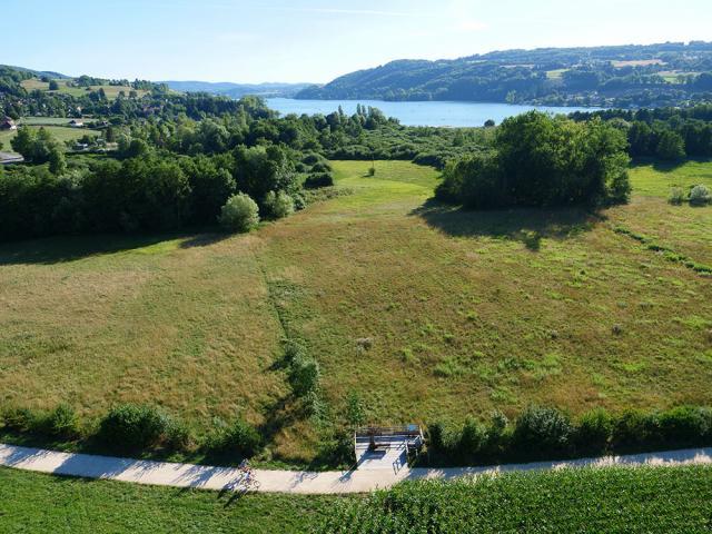 Chemin Des Marais Paladru Montferrat Vue Drone Lac Paladru