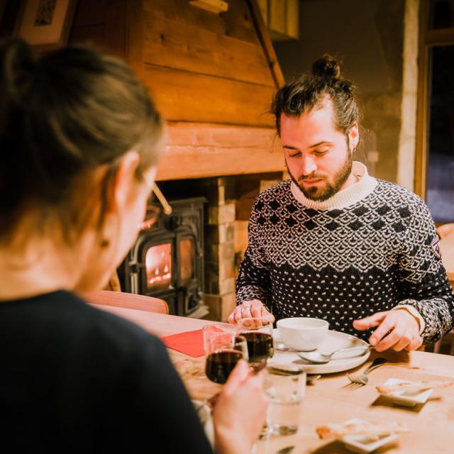 Repas à la Ferme de Brévardière