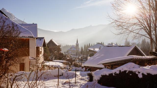 Village De St Pierre De Chartreuse Sous La Neige