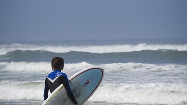 Surf sur les plages de Côte Landes Nature